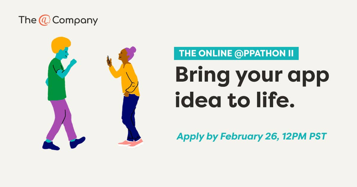 To participate in our @ppathon, apply by February 26