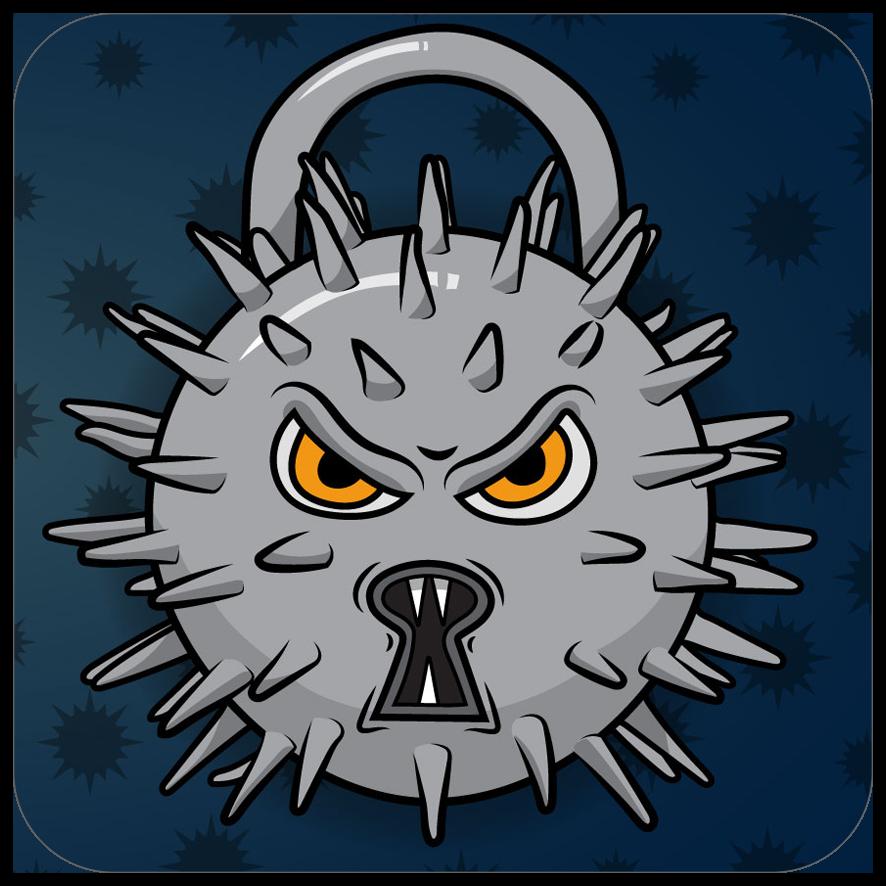 Angry spiky padlock